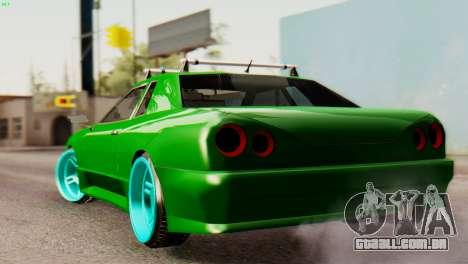 Elegy Korch New Wheel para GTA San Andreas traseira esquerda vista