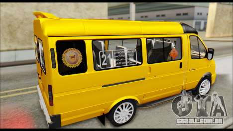 Gazela 3221 2007 Final para GTA San Andreas traseira esquerda vista
