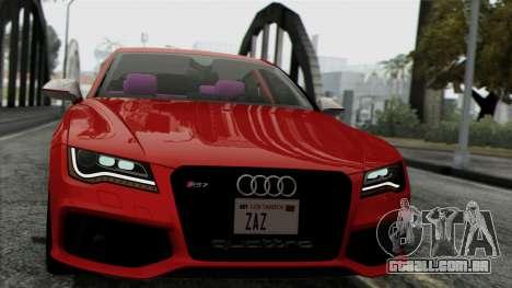 Audi RS7 2014 para GTA San Andreas traseira esquerda vista