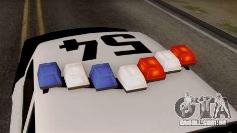 GTA 5 LS Police Car para GTA San Andreas vista traseira