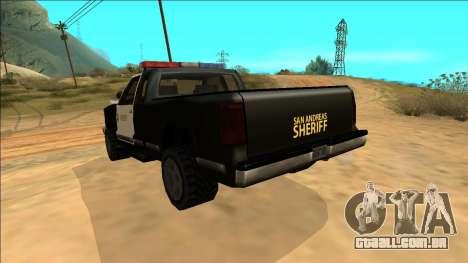 New Yosemite Police v2 para GTA San Andreas vista inferior