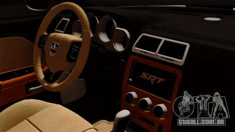 Dodge Challenger SRT8 392 2012 Stock Version 1.0 para GTA San Andreas vista direita
