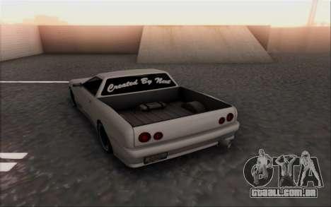 Elegy Pickup By Next para GTA San Andreas traseira esquerda vista