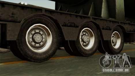 Trailer Cargos ETS2 New v3 para GTA San Andreas traseira esquerda vista