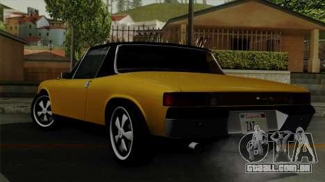 Porsche 914 1970 para GTA San Andreas esquerda vista