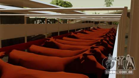 Trailer Cows para GTA San Andreas vista interior