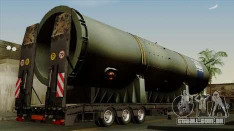 Trailer Cargos ETS2 New v3 para GTA San Andreas esquerda vista