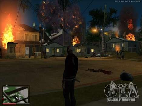 Loucura, no estado de San Andreas. Beta. para GTA San Andreas por diante tela
