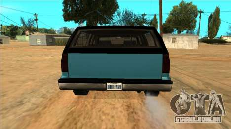 New Yosemite para GTA San Andreas vista superior