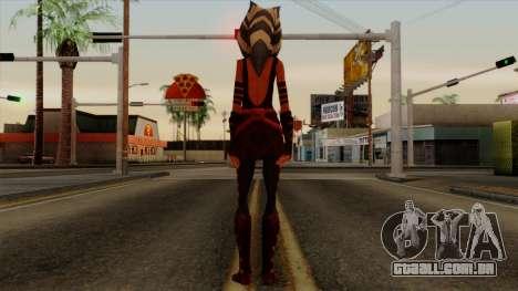 Ahsoka Tano Star Wars para GTA San Andreas terceira tela