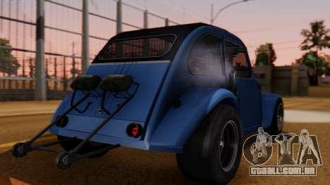 Citroen 2CV (jian) Drag Style Edition para GTA San Andreas esquerda vista
