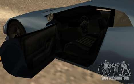 GTA 3 Infernus SA Style v2 para GTA San Andreas vista interior