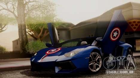 Lamborghini Aventador LP 700-4 Captain America para GTA San Andreas vista superior