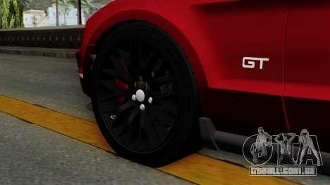 Ford Mustang GT 2010 para GTA San Andreas traseira esquerda vista