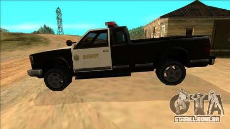 New Yosemite Police v2 para GTA San Andreas interior