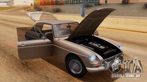 MGB GT (ADO23) 1965 HQLM para GTA San Andreas vista traseira