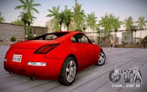 Nissan 350Z SA Style para GTA San Andreas esquerda vista