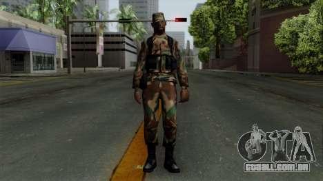 O Africano soldado Americano no padrão de camufl para GTA San Andreas segunda tela