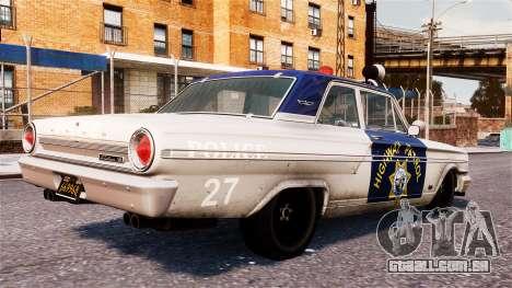 Ford Fairlane 1964 Police para GTA 4 esquerda vista