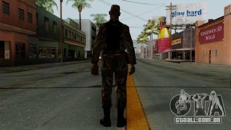 O Africano soldado Americano no padrão de camufl para GTA San Andreas terceira tela