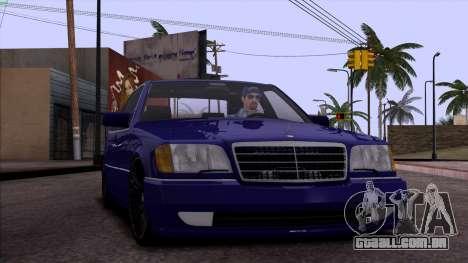 Mercedes-Benz S600 W140 para o motor de GTA San Andreas