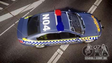 Holden VE Commodore SS Highway Patrol [ELS] v2.1 para GTA 4 vista direita