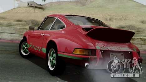 Porsche 911 Carrera RS 2.7 Sport (911) 1972 IVF para GTA San Andreas esquerda vista