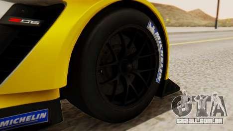 Chevrolet Corvette C7R GTE 2014 PJ2 para GTA San Andreas traseira esquerda vista