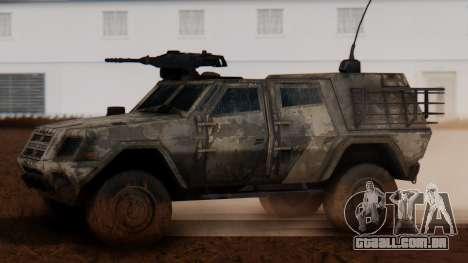 BAE Systems JLTV Extra Skin para GTA San Andreas esquerda vista