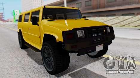 GTA 5 Patriot para GTA San Andreas