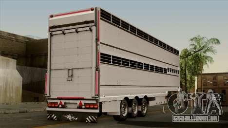 Trailer Aria para GTA San Andreas esquerda vista