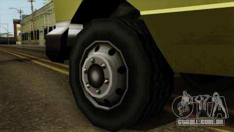 SAFD SAX Rescue Ambulance para GTA San Andreas traseira esquerda vista