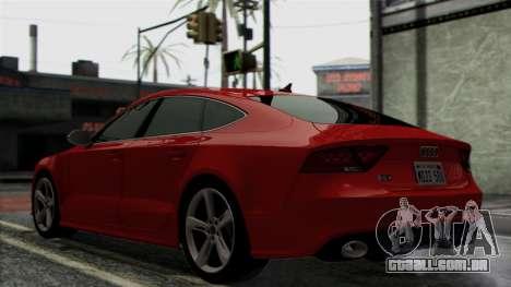 Audi RS7 2014 para GTA San Andreas vista traseira