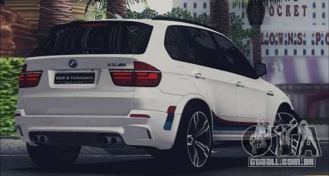 BMW X5M MPerformance Packet para GTA San Andreas esquerda vista