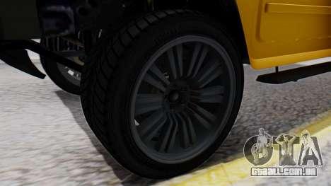GTA 5 Patriot para GTA San Andreas traseira esquerda vista