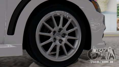 Mitsubishi Lancer Evo X Chinese Police para GTA San Andreas traseira esquerda vista