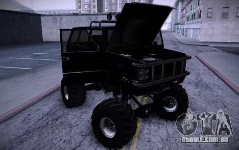 Huntley Monster v3.0 para GTA San Andreas vista traseira
