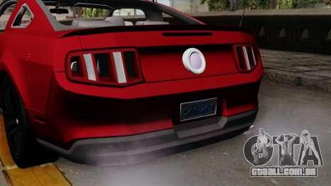 Ford Mustang GT 2010 para GTA San Andreas vista direita