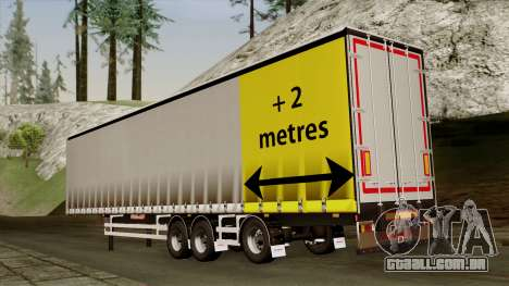 Trailer 15 meters para GTA San Andreas esquerda vista