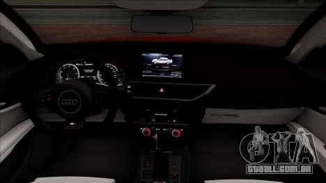 Audi RS7 2014 para GTA San Andreas vista interior