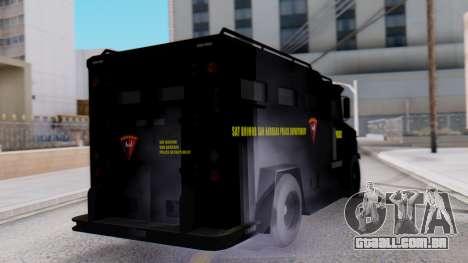 GTA 5 Enforcer Indonesian Police Type 1 para GTA San Andreas esquerda vista