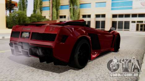 Lamborghini Gallardo J Style para GTA San Andreas esquerda vista
