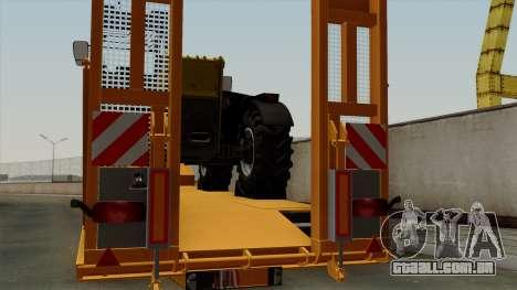 Trailer Fliegl Cargo para GTA San Andreas vista traseira