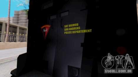 GTA 5 Enforcer Indonesian Police Type 1 para GTA San Andreas vista direita