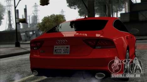 Audi RS7 2014 para GTA San Andreas vista direita