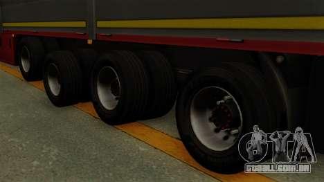 Flatbed3 Red para GTA San Andreas traseira esquerda vista