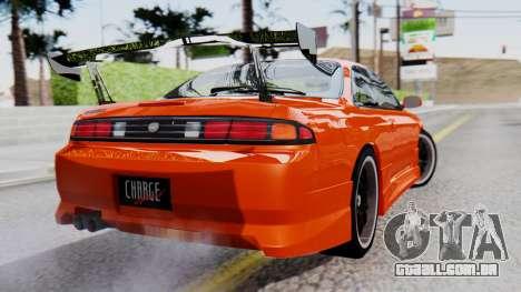 Nissan Silvia S14 (240SX) Fast and Furious para GTA San Andreas esquerda vista