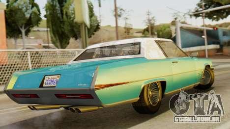 GTA 5 Albany Manana IVF para GTA San Andreas esquerda vista