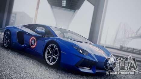 Lamborghini Aventador LP 700-4 Captain America para GTA San Andreas vista traseira