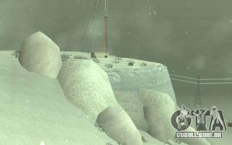 Inverno Timecyc para GTA San Andreas segunda tela